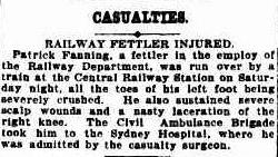 Patrick Fanning Accident Sydney Morning Herald 28 Dec 1910