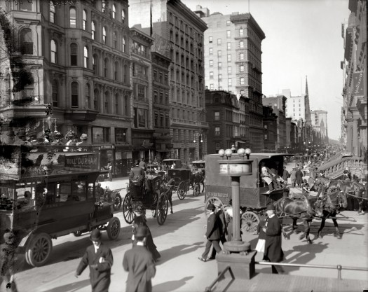 5th and 42nd Streets New York about 1920