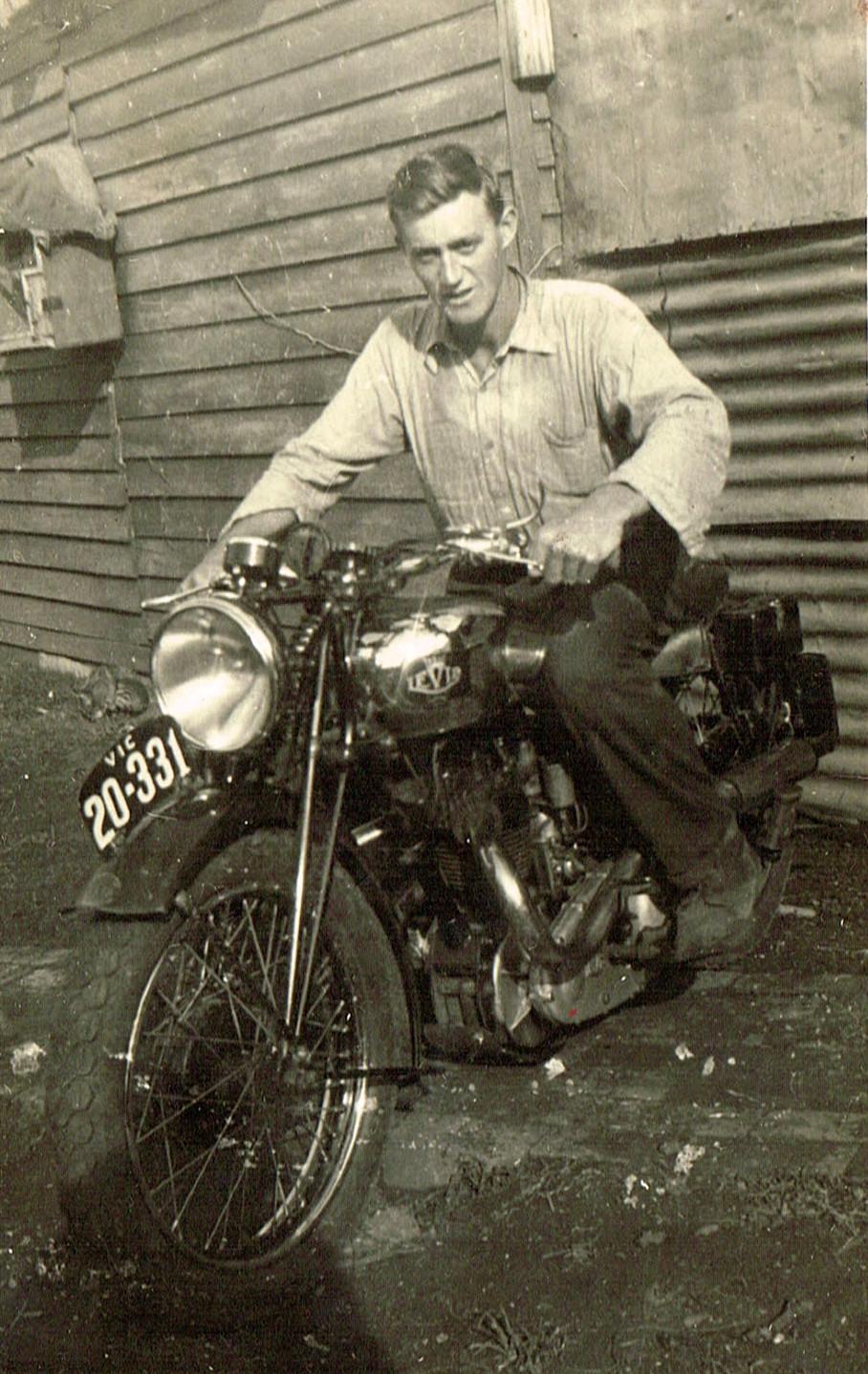 Bobby Wilson on motorbike