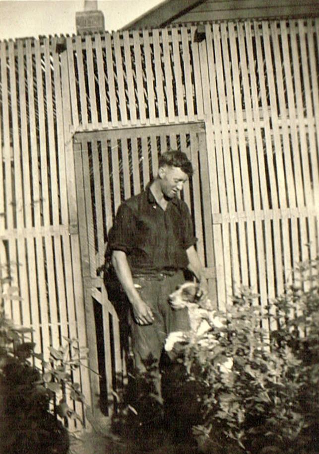 Bobby Wison and dog