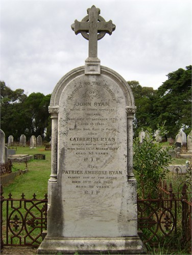 Catherine Ryan nee Fanning Gravestone