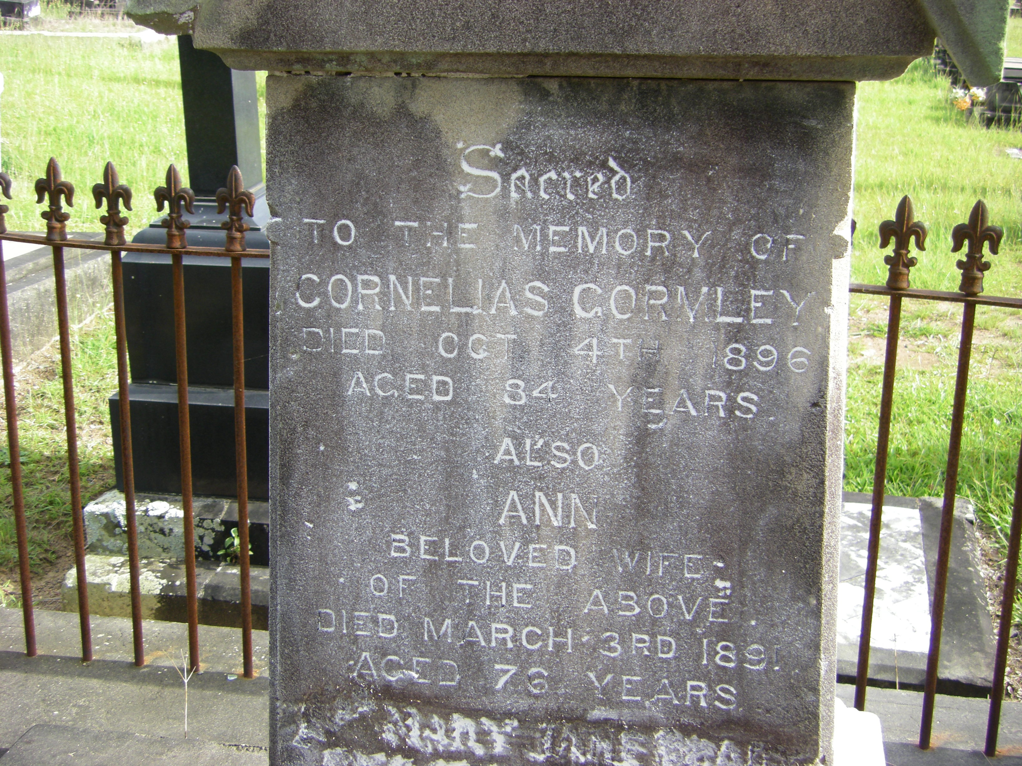 Cornelius and Ann Gormley