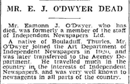 Co tipperary ireland fanning fannin ryan sheehan darmody eamonn j odwyer death irish independent 22 july 1939 malvernweather Gallery