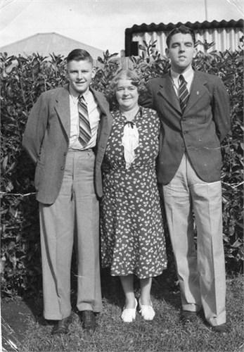 Edward Fanning, Anne Fanning nee Tapscott and Fred Fanning