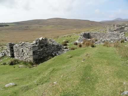 Famine Village Achil at the bottom of Slieve More ireland