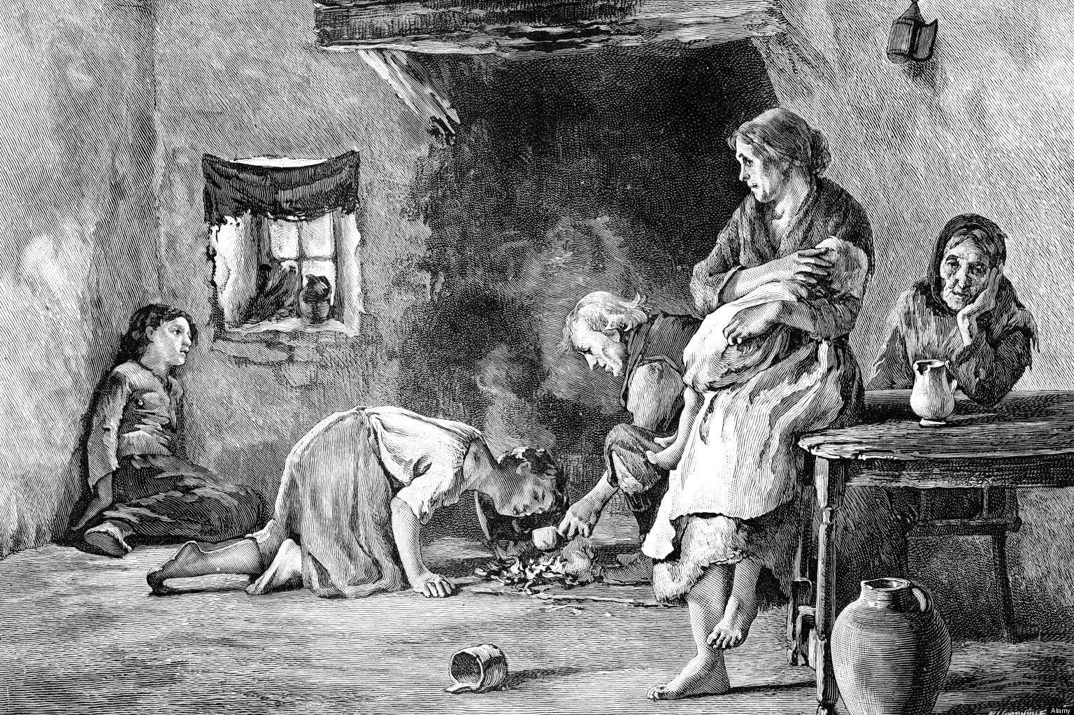 B0KH45 The Irish Famine, 1845-1849, (1900). Artist: Unknown