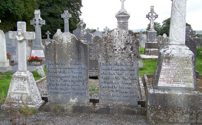 Fanning Graves in Ballycahill Cemetery Co Tipperary Ireland 2011 Photos