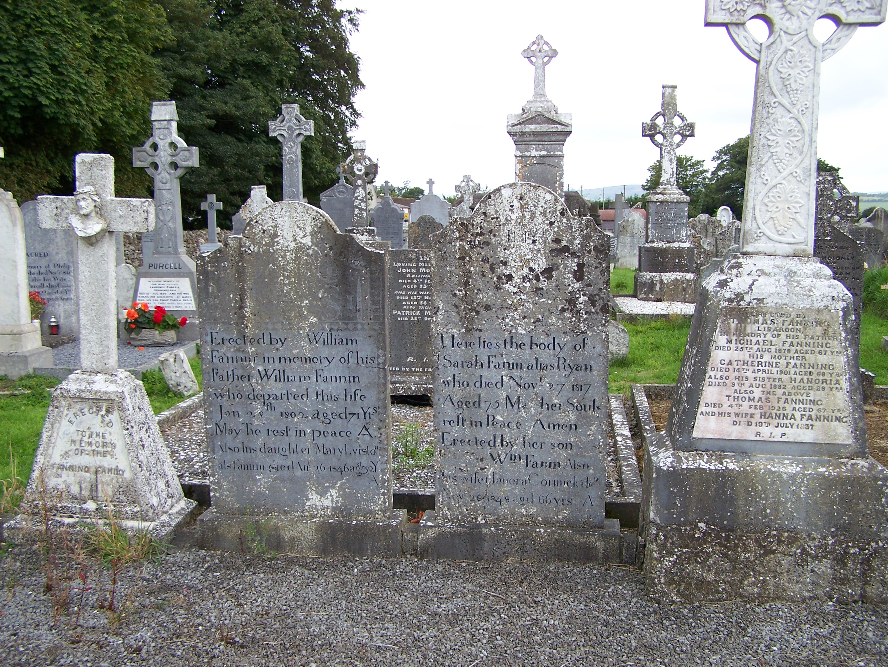Fanning Family Graves Ballycahill Cemetery Co Tipperary Ireland