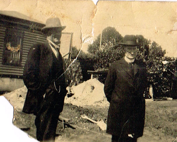 Frank Fanning and Father Camperdown Presbytery 1930 maybe