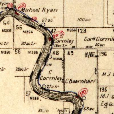 Gormley Cornelius Gormley's Lands along Belmore River Kinchela Parish Map 1920