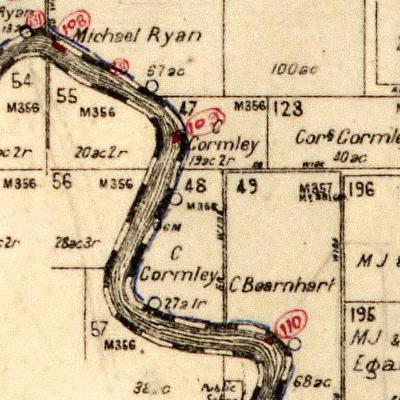 Gormley Cornelius Gormley's Lands along Belmore River Kinchela Parish Map 1920