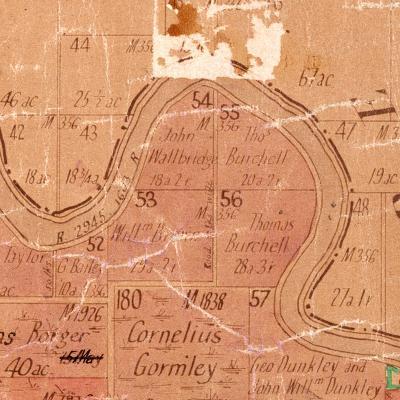 Gormley Parish Map John Thomas Fanning's land before WW1 Kempsey Parish Map