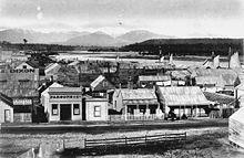 Hokitika Township in the 1870s