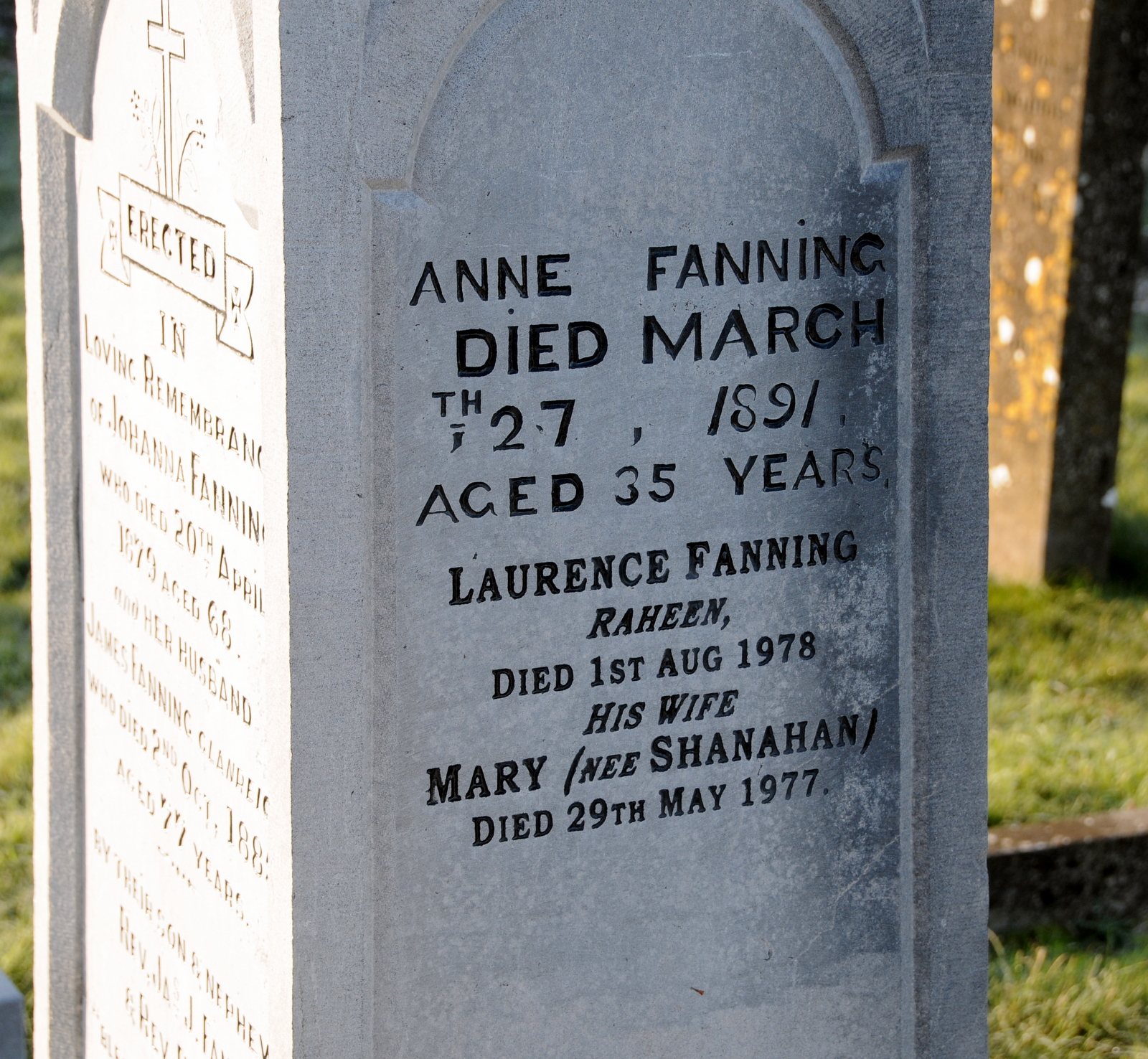 Holycross C of I Anne Fanning & Lawrence Fanning, Mary FAnning nee Shanahan