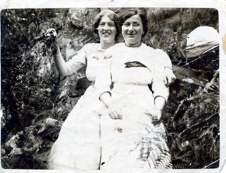 Ida Mackey (back)& Agnes Iverson