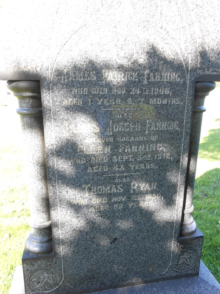 James Joseph Fanning LIverpool Ford Cemetery