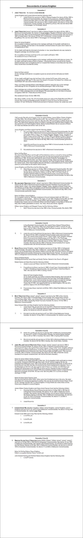 James & Louisa Knighton Descendants Report 2015