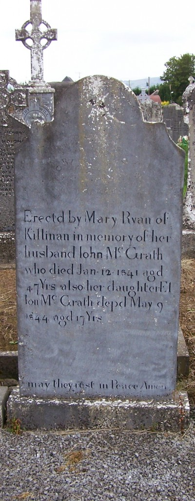 INn with the Fanning family graves John & Ellon McGrath Ballycahill Cemetery Co Tipperary