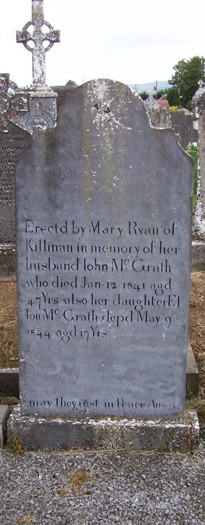 John & Ellon McGrath Ballycahill Cemetery Co Tipperary