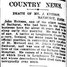John Eviston Obit SMH 2 Feb 1925