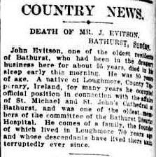 John Eviston Obit SMH 2 Feb 1925