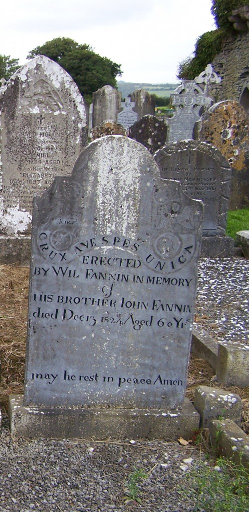 John Fanning died 1824 Ballycahill Cemetery Co Tipperary