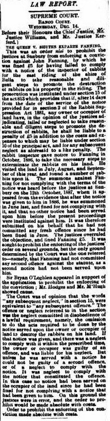 John Henry Fanning The Argus Dec 14 1887