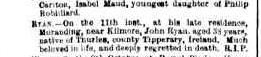 Jon Ryan death notice Argus 18 Dec 1876 2