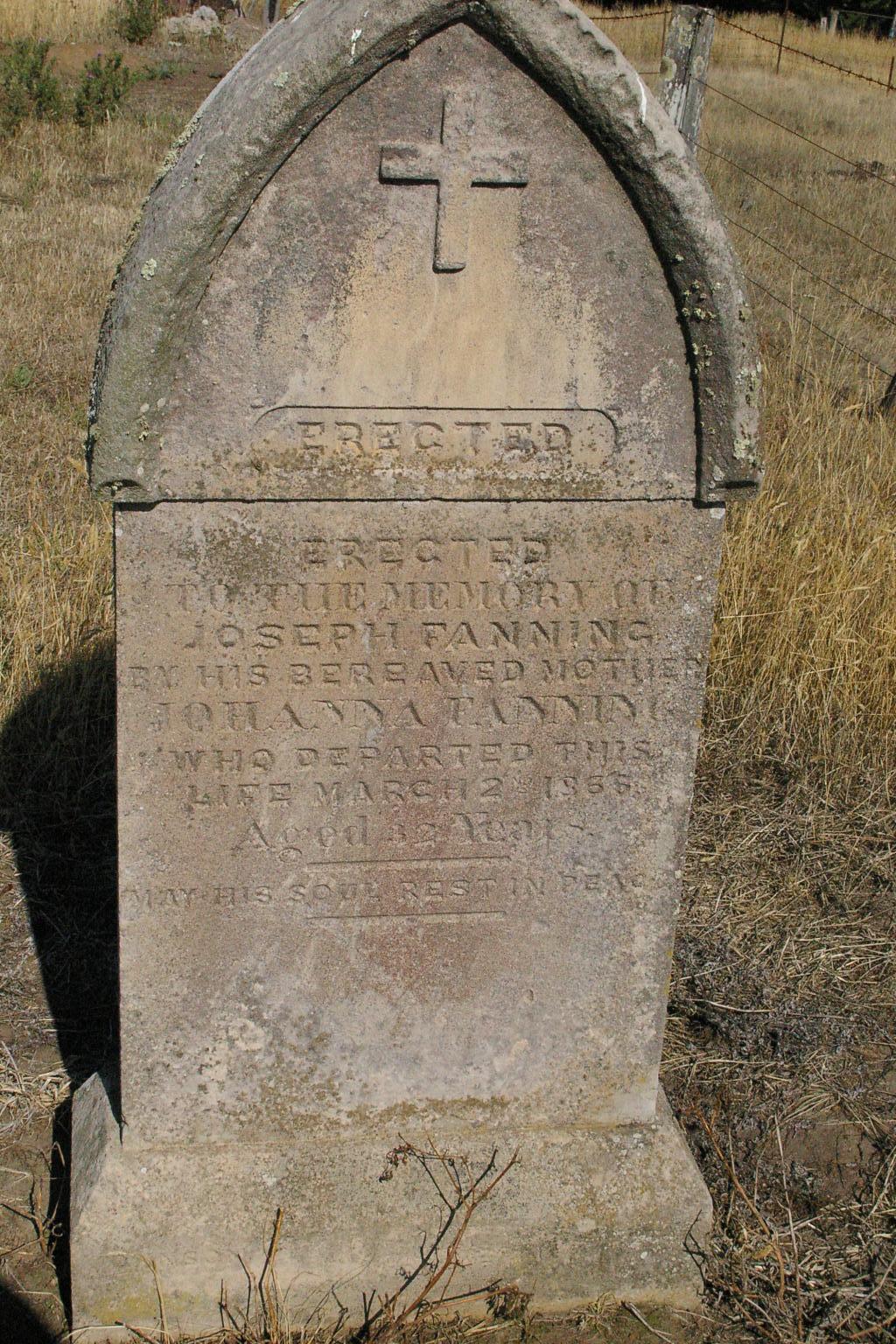 Joseph Fanning Penshurst Gravestone