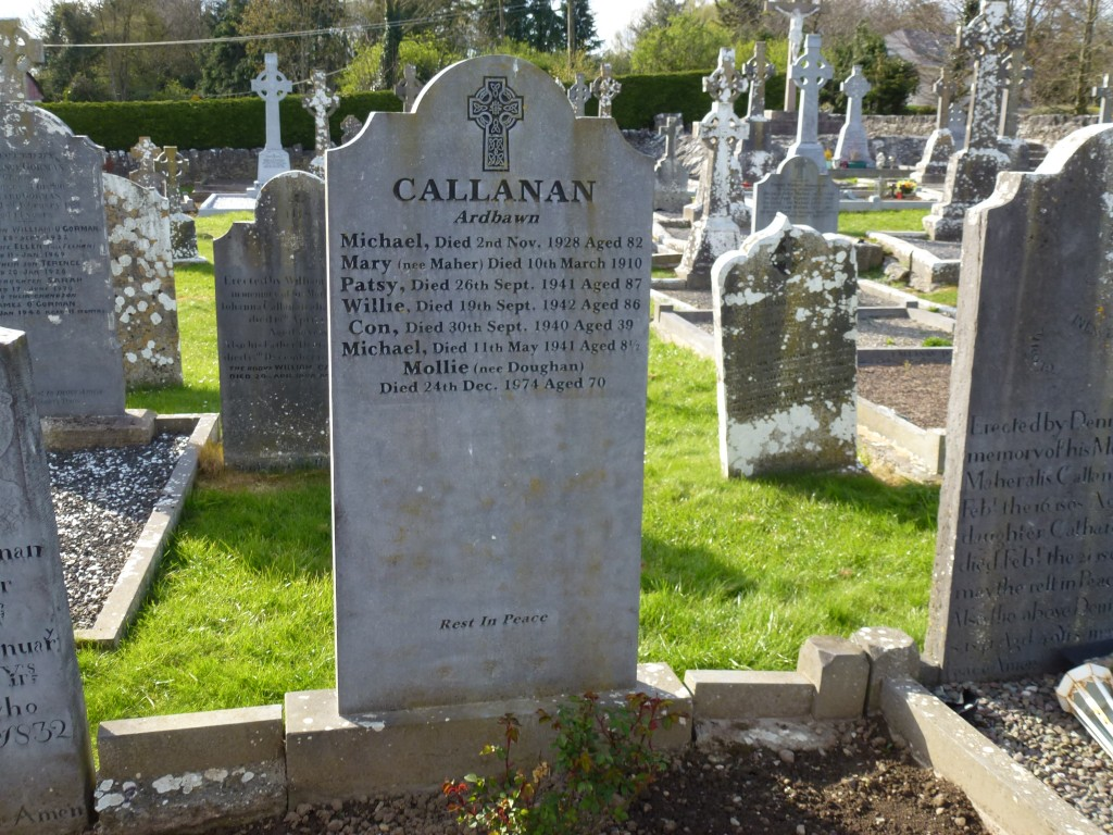 Killinan Cemetery Callanan Graves Co Tipperary Ireland