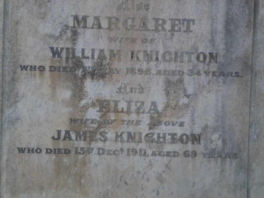 Knighton Grave Boroondara Close Up (2)