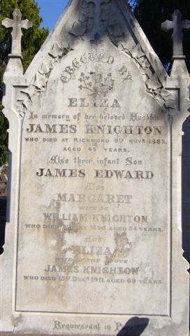 Knighton Gravestone Boroondara Cemetery Kew