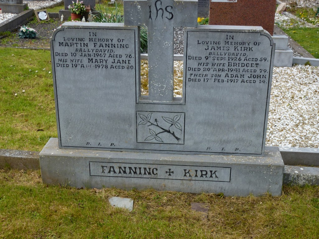 Littleton Cemetery Martin Fanning Ballydavid & James Kirk Co Tipperary Ireland