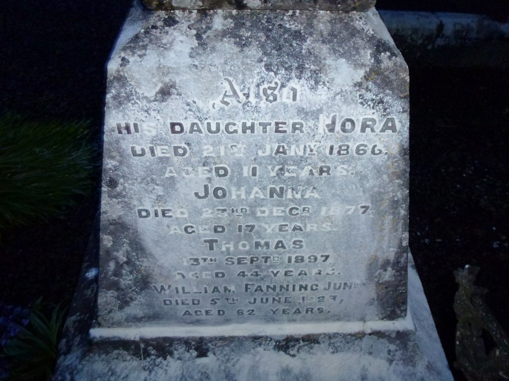Loughmore Cemetery Co Tipperary Ireland Nora & Wm Fanning of Clondoty (2)