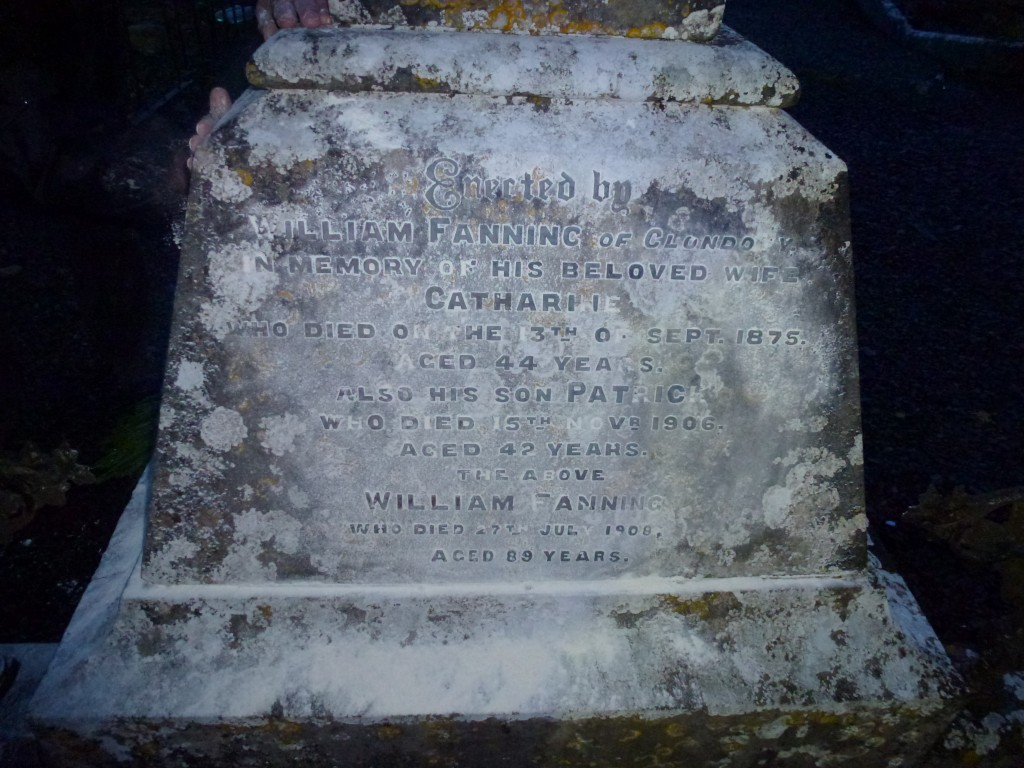 Loughmore Cemetery Co Tipperary Ireland William Fanning of Clondoty Grave (2)
