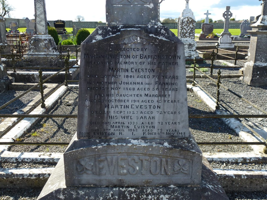 Loughmore Cemetery Evestons of Barronstown Co Tipperary Ireland