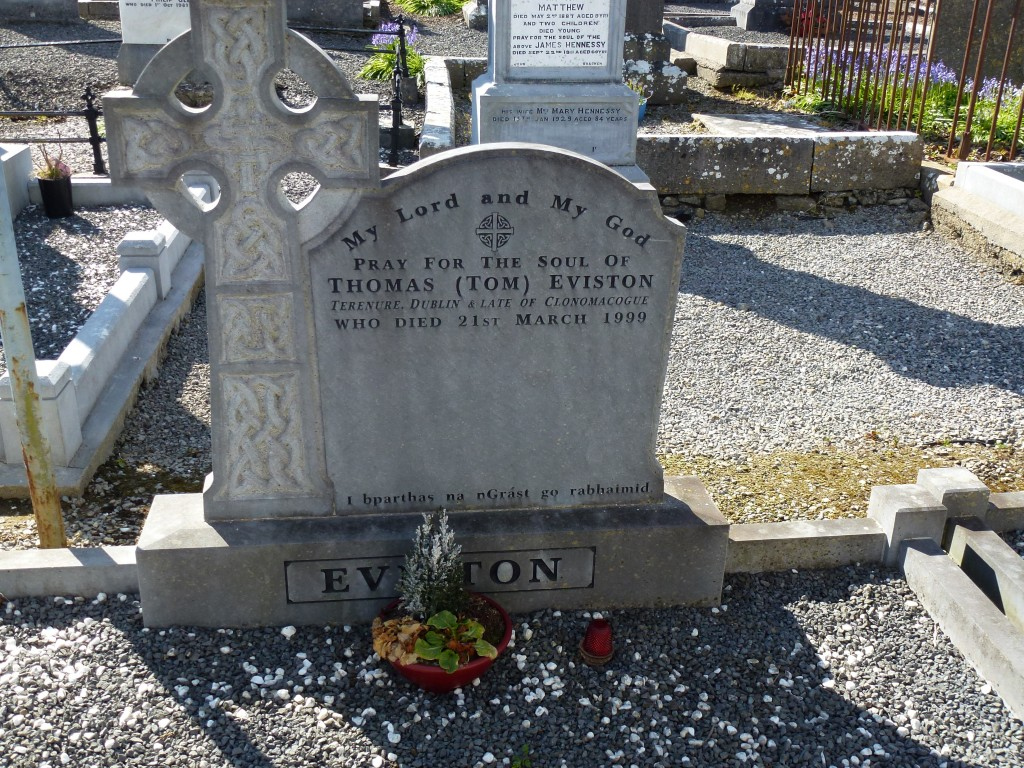 Loughmore Cemetery Tom Eviston of Clonomacogue Co Tipperary Ireland
