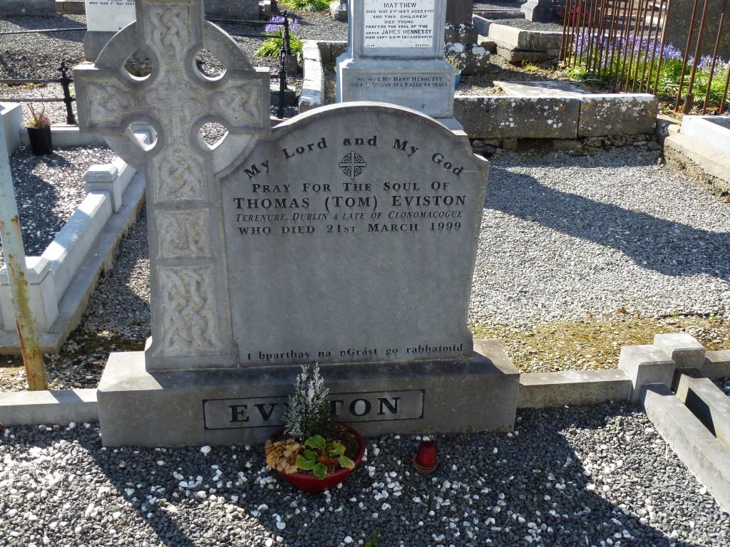 Loughmore Cemetery Tom Eviston of Clonomacogue Co Tipperary Ireland