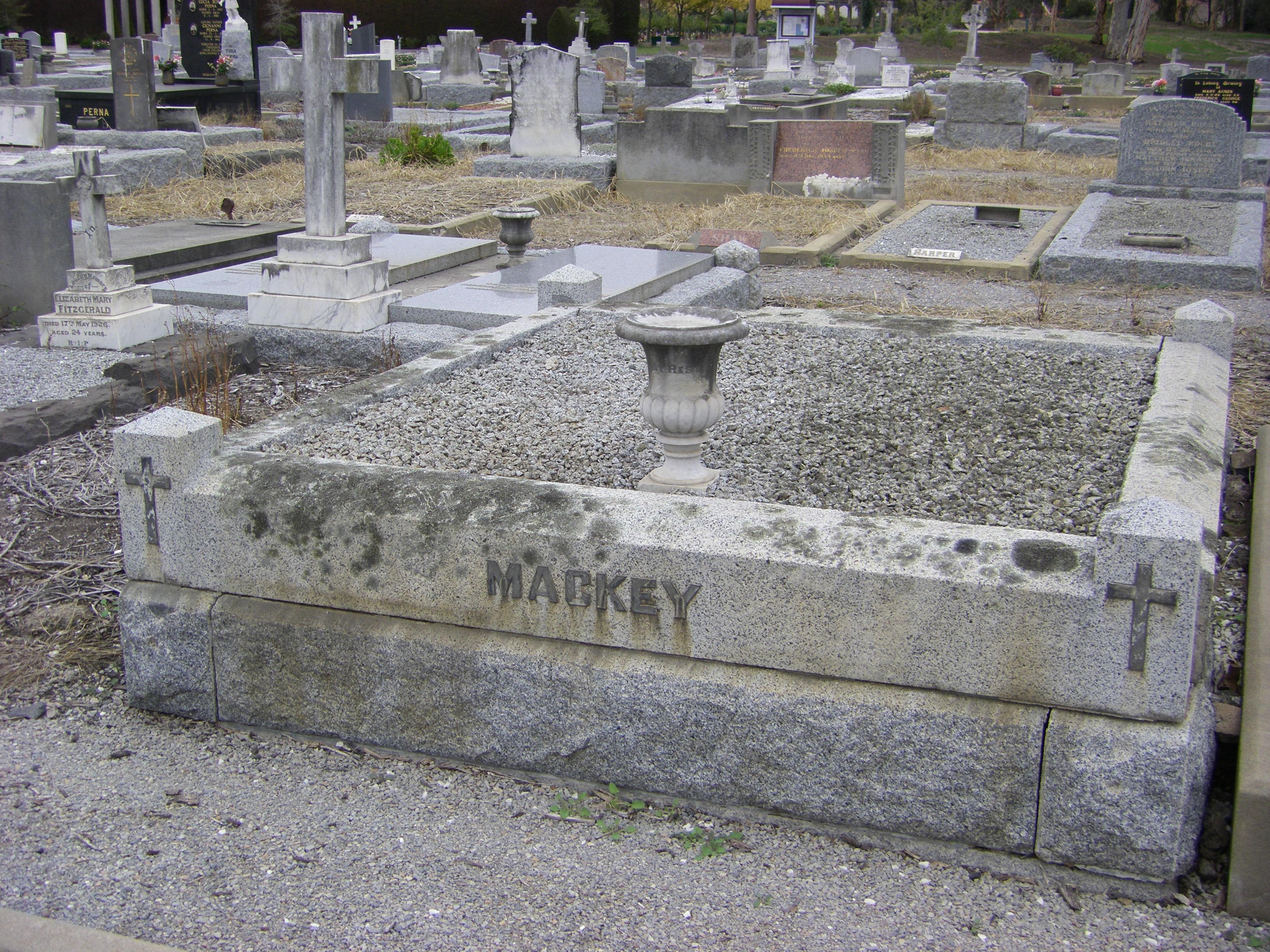 Mackey Grave Fawkner Cem.