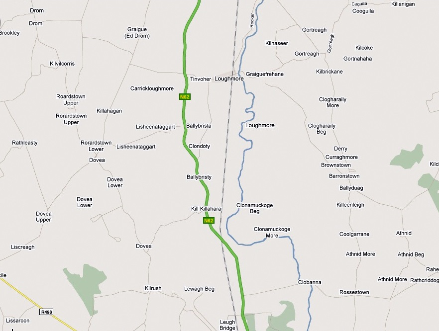 Map of Clondoty & Lishnataggart & Lissaroon & Clonomucogue