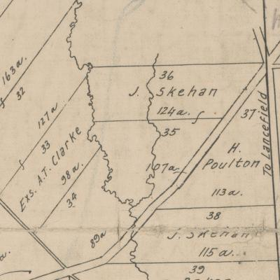 Map of Skehan's land at Monegeeta