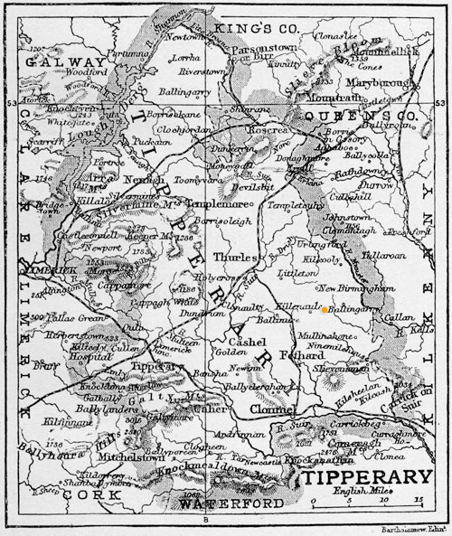 Map of Tipperary 1906