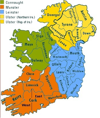 Map of irish Counties 2