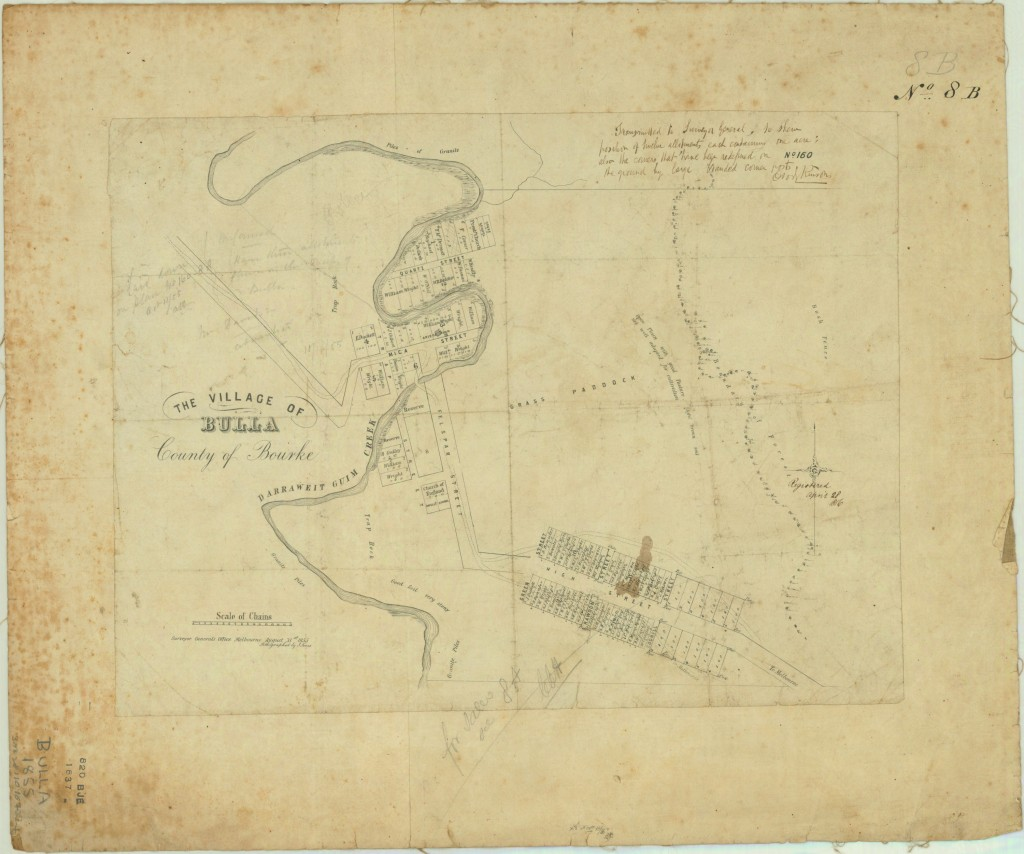 Map of the Township of Bulla 1855