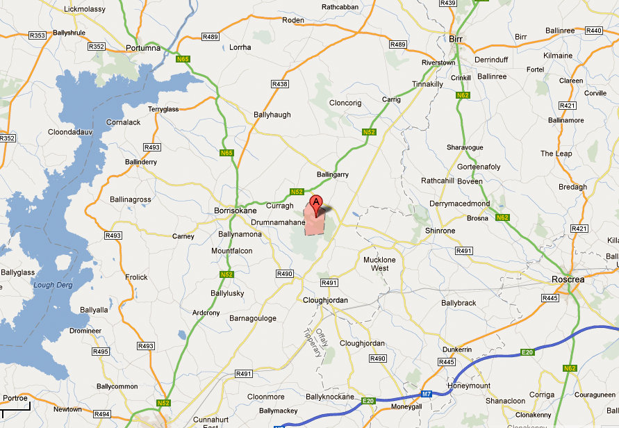 Maria Torpey born Sopwell near Borrisokane Map