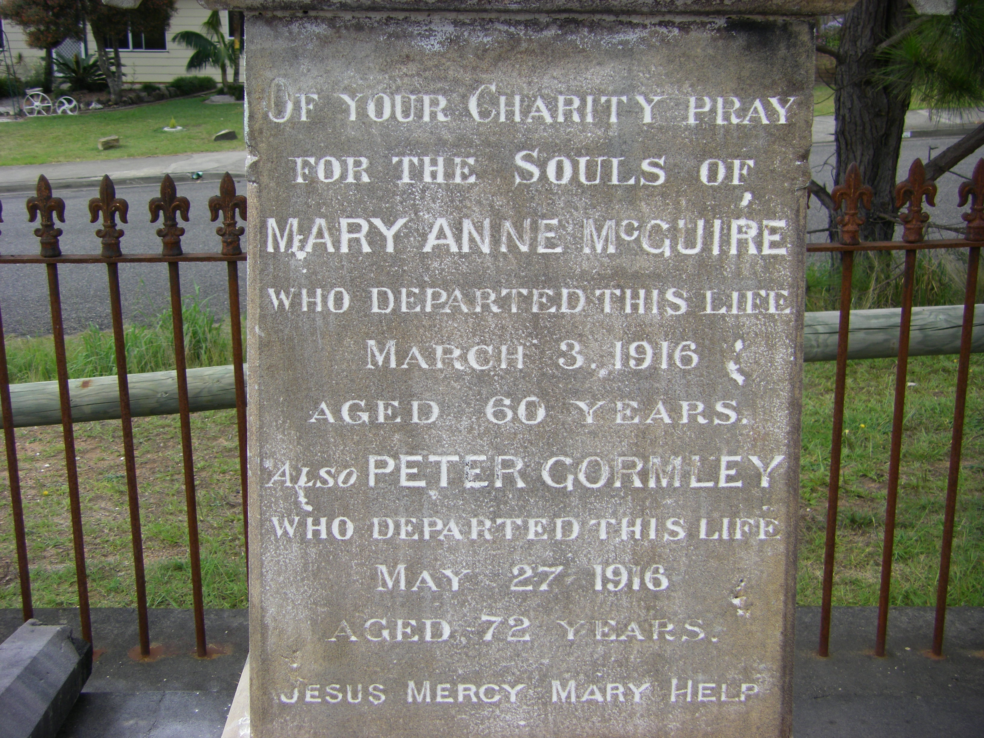 Mary Ann McGuire and Peter Gormley