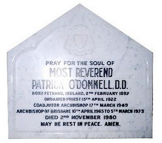 Memorial Plaque for Patrick O'Donnell 1897-1980