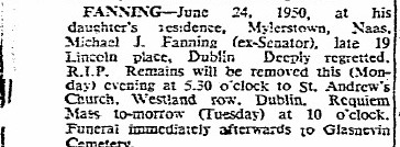 Death Notice Michael J Fanning