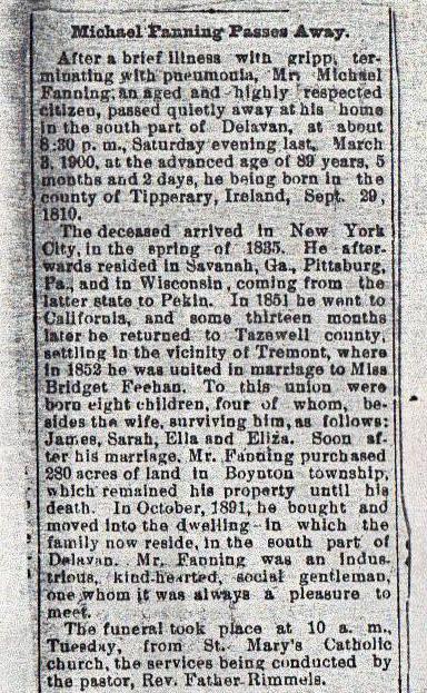Michael Fanning of Tazewell US Obituary cr