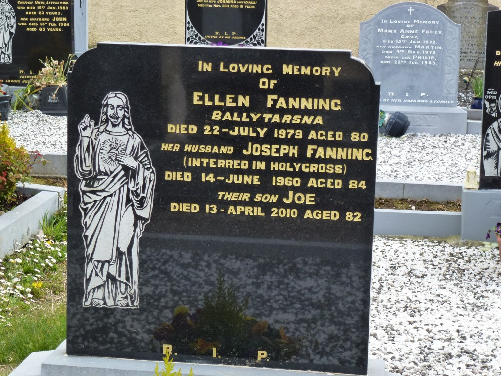 Moycarky New Cemetery Ellen Fanning Ballytarsna CoTipperary Ireland